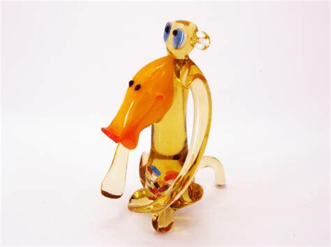new year monkey figurines glass monkey gift blown glass monkey sculpture