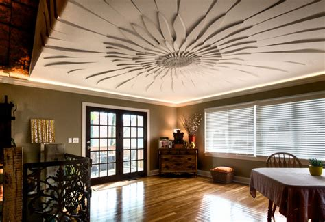 decorated ceiling decorative ceilings contemporary dining room chicago