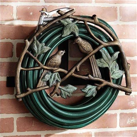 decorative hose holder ideas amazing garden hose holder made from wrought iron