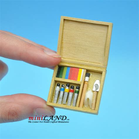 dollhouse paint artist s paint set with brushes and paint dollhouse