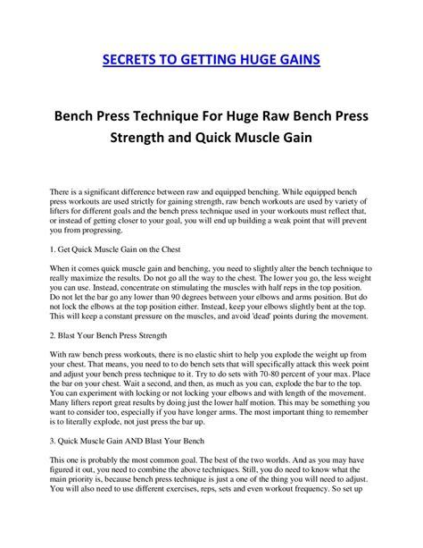 raw bench press technique bench press technique by matt mccary issuu