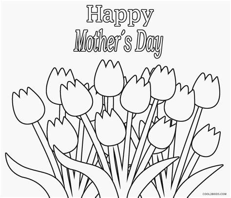 printable flowers mother s day printable coloring pages of flowers for mothers day