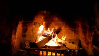 crackling fireplace in high def 1080p