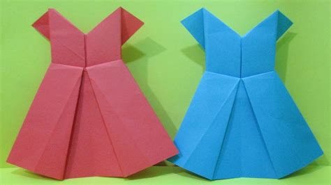 Easy Origami Dress - how to make easy origami dress paper dress for
