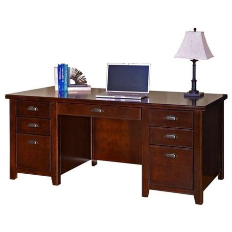 martin furniture tribeca loft double pedestal wood