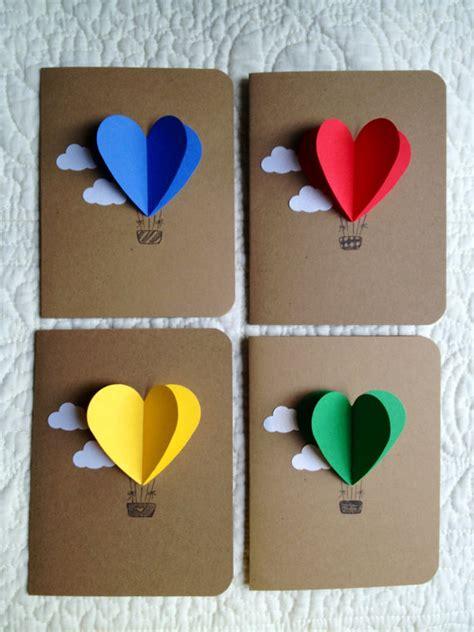 Handmade Air Balloon - air balloon cards set of 4