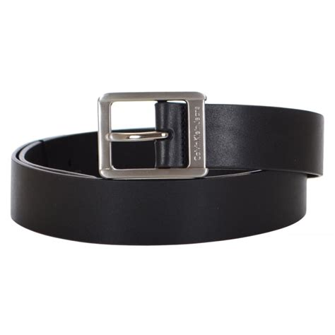 calvin klein central buckle leather belt calvin
