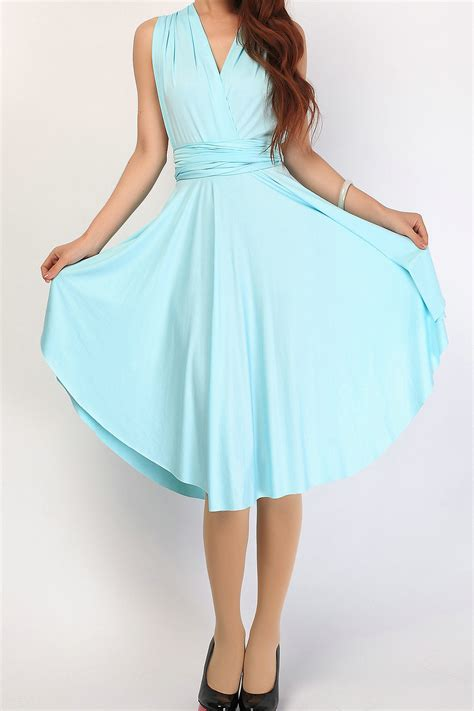 Blue Baby Dress baby blue triangle infinity dress bridesmaid dresses by