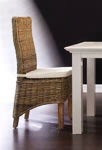 Dining Cushions For Chairs Belgravia Rattan Dining Chairs With Cushion Oak Furniture Solutions