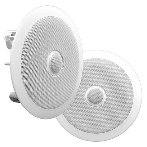 ceiling wall speakers pyle pdic60 6 5 quot pair of 2 way in ceiling wall hifi