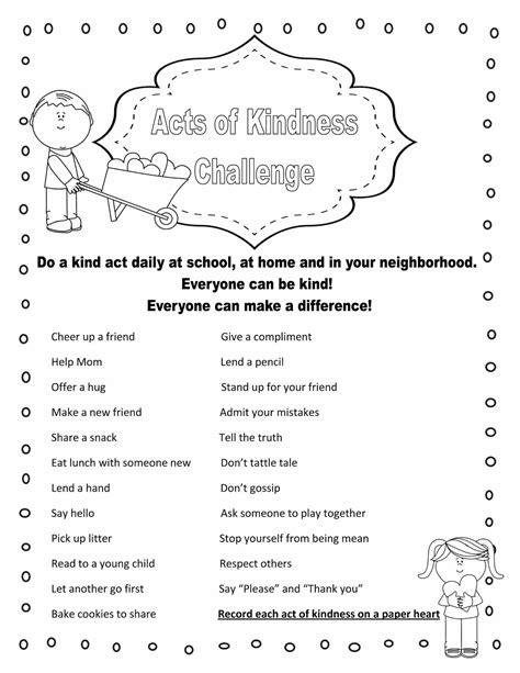 Kindness Worksheets by Kindness Worksheets For Middle School Students Kindness