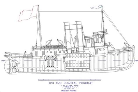 wooden tugboat plans coastal tugboat nameaug plans shearwater boats