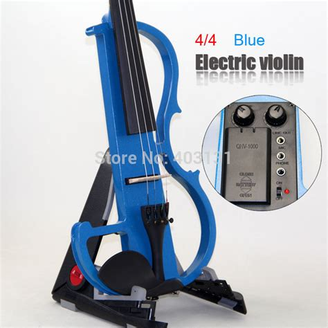Bow Biola Import By Shop aliexpress buy 4 4 violin classic blue electric