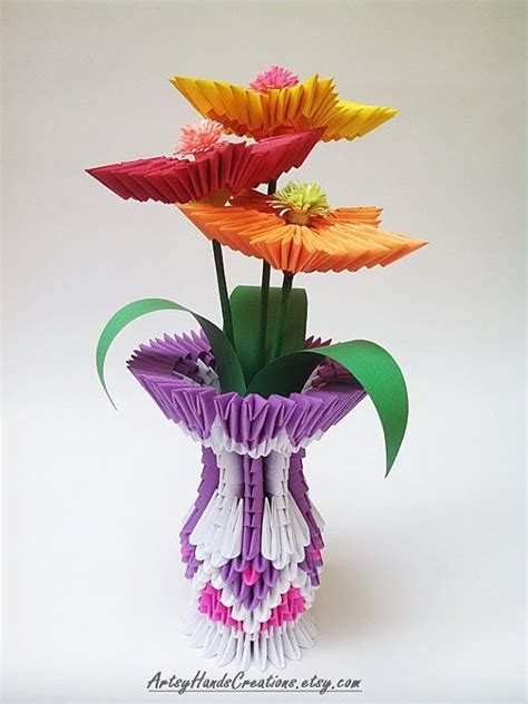 Origami 3d Flowers - 188 best images about on