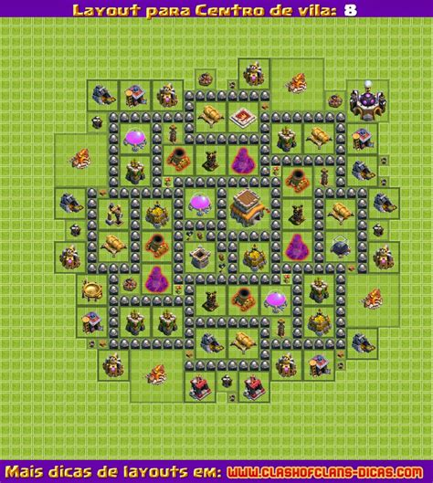 layout zuero cv 8 layouts para clash of clans centro de vila 8