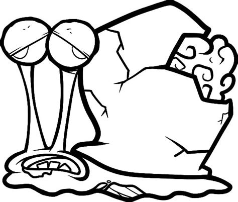 spongebob zombie coloring page zombie gary the snail coloring pages color luna