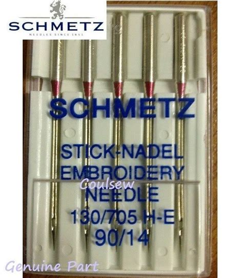 schmetz sewing machine embroidery needles size 90 14 strong ebay