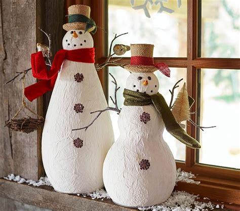 How To Make Paper Mache Snowman - paper mache snowmen pottery barn