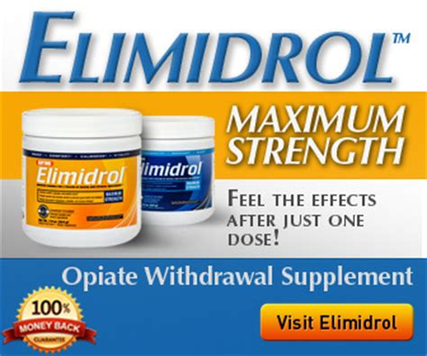 Best Vitamins For Opiate Detox by Elimidrol 1 Opiate Withdrawal Relief Supplement Proud