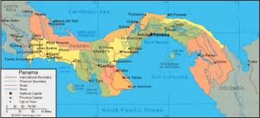 Panama On World Map by Panama Map And Satellite Image