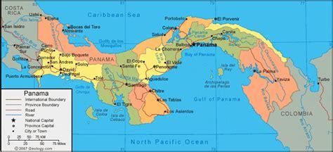panama city on map panama map and satellite image