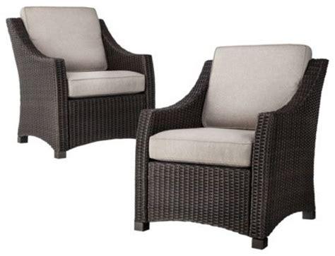 threshold belvedere wicker patio club chair