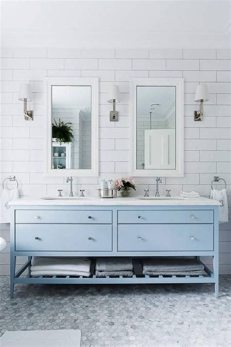 light blue bathroom walls 33 chic subway tiles ideas for bathrooms digsdigs