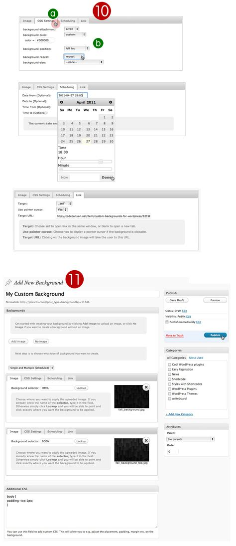 custom layout on wordpress custom backgrounds for wordpress by righthere codecanyon
