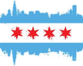 of chicago colors white chicago flag digital by mike maher