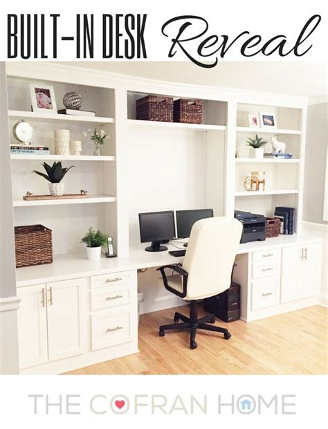 built in desk diy built in desk reveal the cofran home
