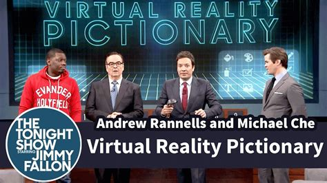 michael che youtube virtual reality pictionary with andrew rannells and