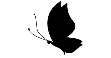Open Home Plans by Butterfly Silhouette Side View Facing Left Free Animals