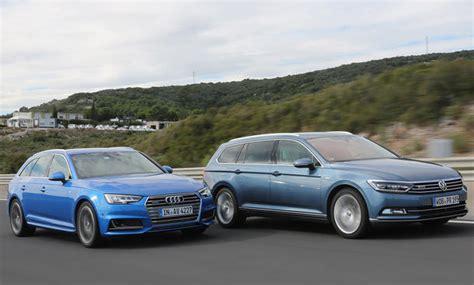 Autoversicherung Audi A4 by Audi A4 Avant Vw Passat Variant Vergleichstest