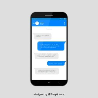 mobile messenger app mobile phone template vector free