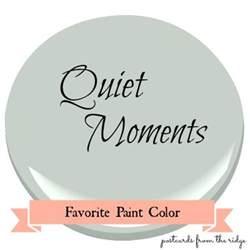 favorite paint color benjamin moore quiet moments