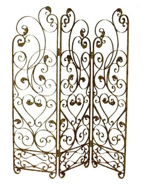 wrought iron room divider screen decorating ideas