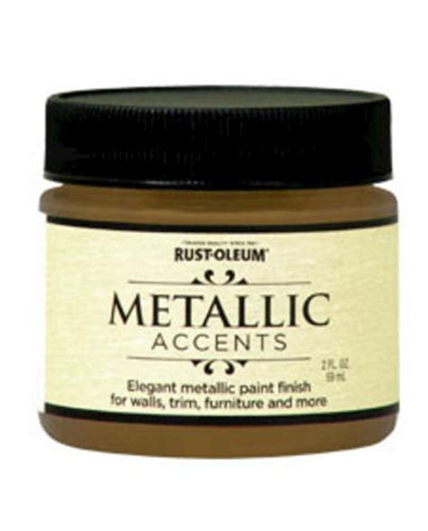 rust oleum 174 metallic accents gold mine paint 2 oz at menards 174