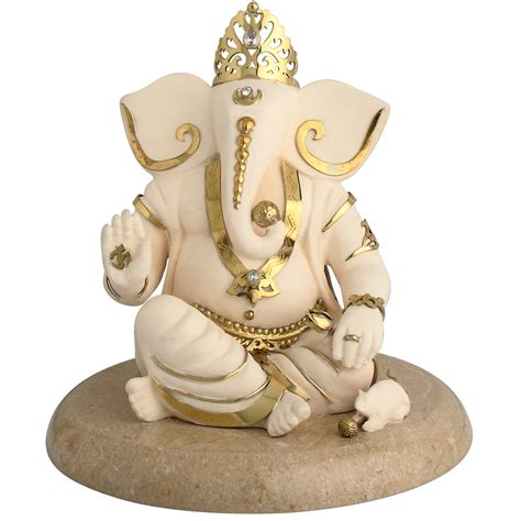 Premier Home Decor Ganesh Ashirwad Idol In Brass Art And Decors