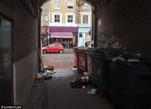 Narrow House Floor Plan northcote road alleyway full of dustbins and bin bags