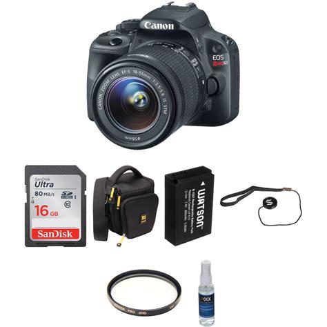 Kamera Canon Rebel Sl1 canon eos rebel sl1 dslr with 18 55mm lens basic kit b h