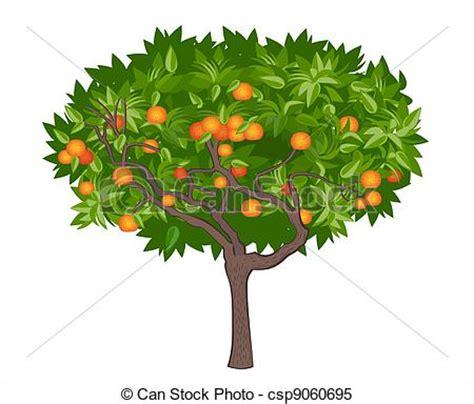 alberi clipart clipart vettoriali di mandarino albero vettore