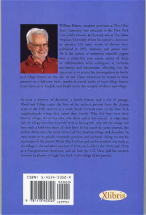 author biography book jacket blood and village