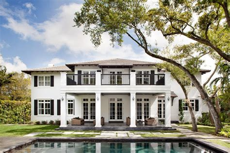 plantation style architecture neoclassical plantation style miami home with pool