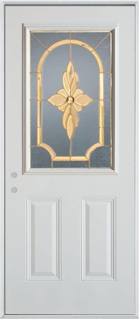 34 Inch Door by Stanley Doors 34 Inch 1 2 Lite Painted Steel Entry Door
