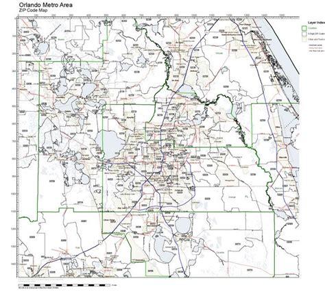 zip code map orlando workingmaps com zip code maps