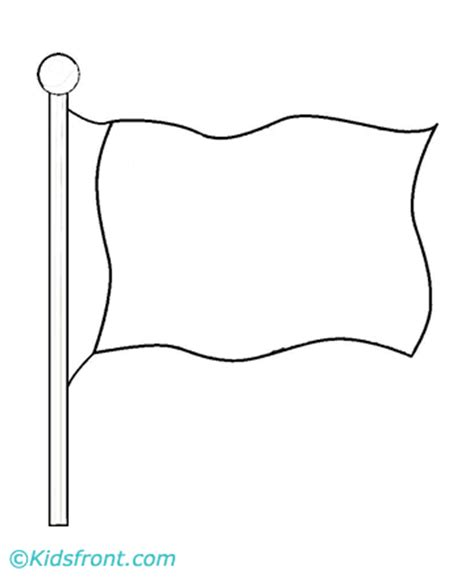 Flag Coloring Pages Printable Flag Coloring Page