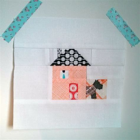 Patchwork House - patchwork house block chimney tutorial madge