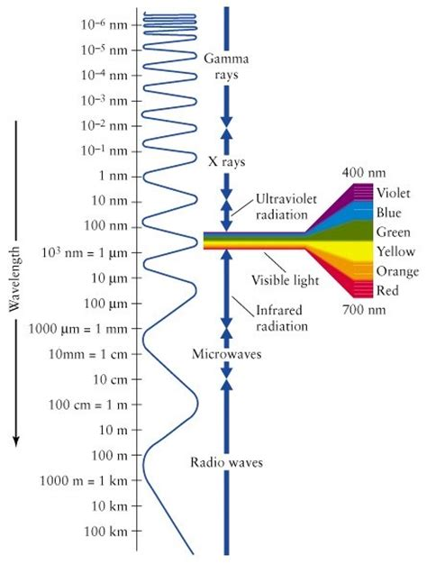 What Color Of Visible Light Has The Wavelength by Wavelength For The Various Colors
