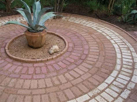 brick patio patterns 13 circle patio ideas that are attractive for your