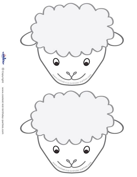 printable sheep face google search easter crafts